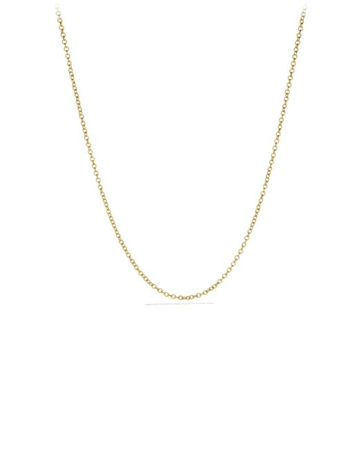 David Yurman | Metallic Small Cable Rolo Chain Necklace In Gold | Lyst
