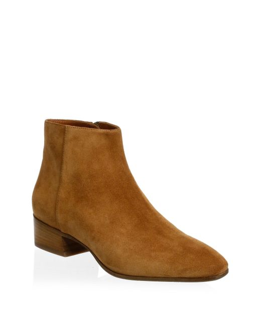 Aquatalia - Brown Fuoco Suede Ankle Boots - Lyst