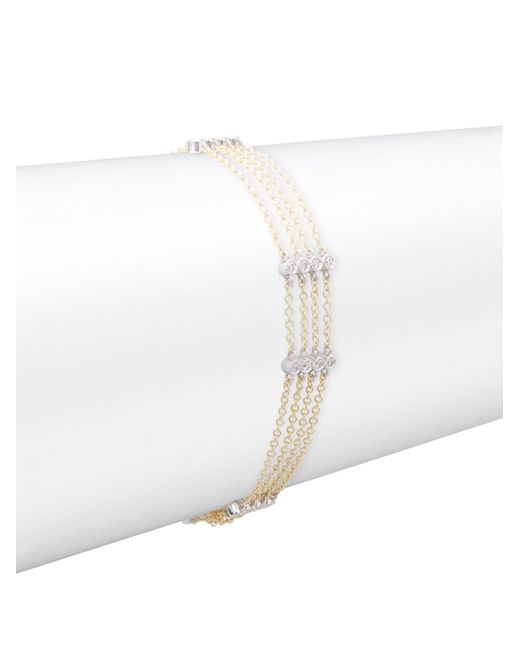 Meira T - Metallic Diamond, 14k White Gold & 14k Yellow Gold Tiered Bracelet - Yellow Gold - Lyst