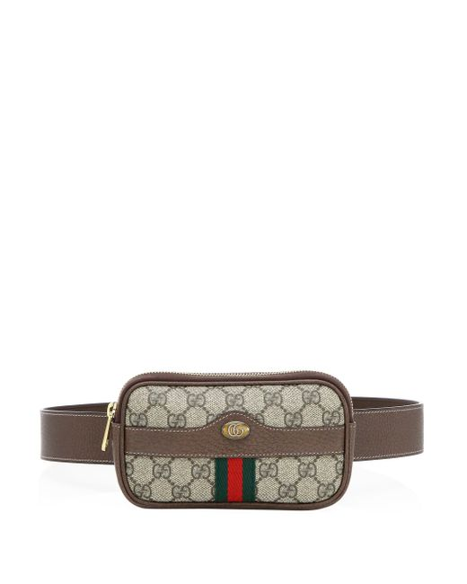Gucci Brown Logo Belted Canvas Phone Case