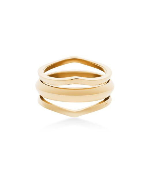 Michael Kors - Metallic Triple Open Ring - Lyst