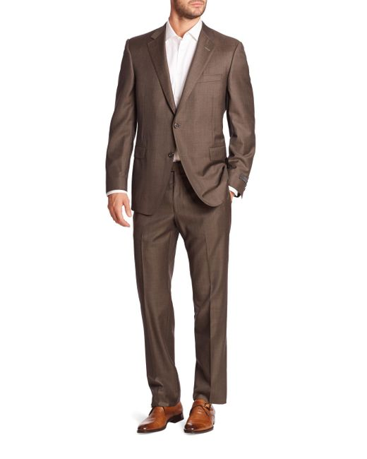 Saks Fifth Avenue - Blue Samuelsohn Classic-fit Two-button Wool Suit for Men - Lyst