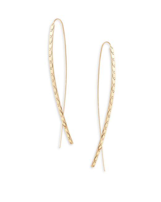 Lana Jewelry - Metallic Elite 14k Yellow Gold Upside-down Hoop Earrings - Lyst