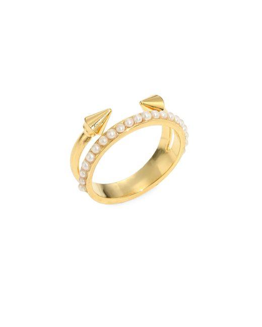 Vita Fede - Metallic Ultra Mini Titan Pearl Ring - Lyst