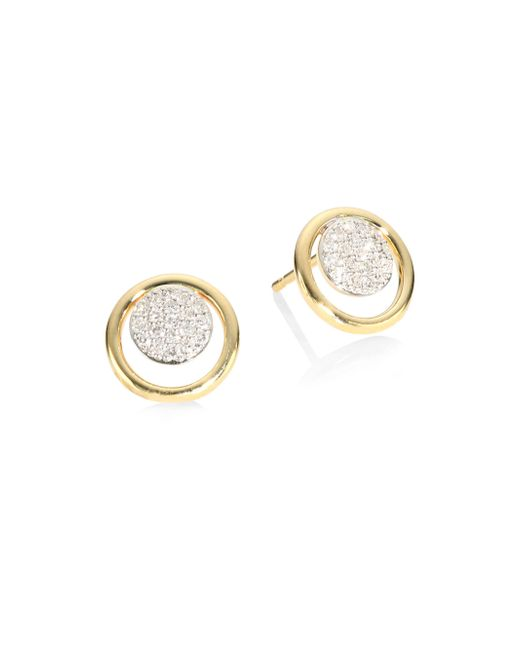 Phillips House - Metallic Affair Diamond Micro Infinity Loop Stud Earrings - Lyst