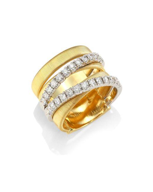 Marco Bicego | Metallic 18k White Yellow Gold & White Diamond Ring | Lyst