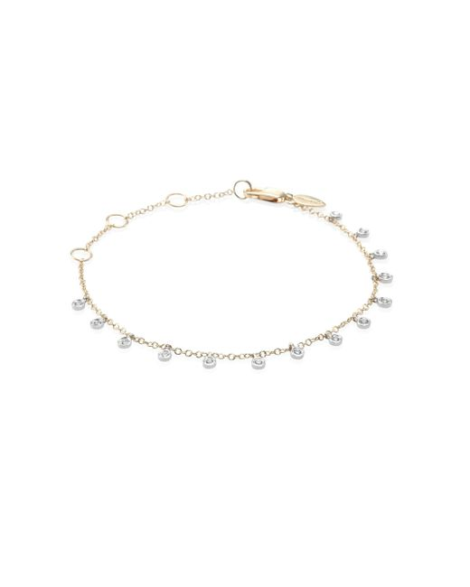Meira T - Metallic Diamond & 14k Two-tone Gold Dangle Bracelet - Lyst