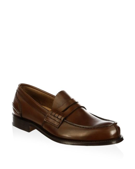 Church's   Brown Pembrey Leather Penny Loafers for Men   Lyst