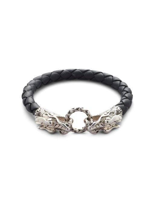 John Hardy - Black Naga Dragon Bracelet for Men - Lyst