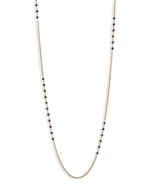 Etho Maria - Metallic Leyla 18k Rose Gold 6.51 Tcw Black Diamond Necklace - Lyst