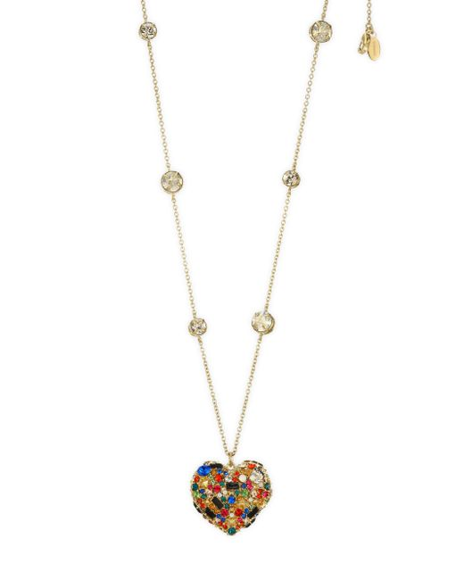 Valentino - Metallic Heart Necklace - Lyst
