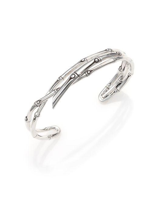 John Hardy - Metallic Bamboo Sterling Silver Multi-row Cuff Bracelet - Lyst