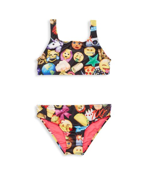 Terez - Black Little Girl's & Girl's Two-piece Emoji Bikini Top & Bottom Set - Lyst