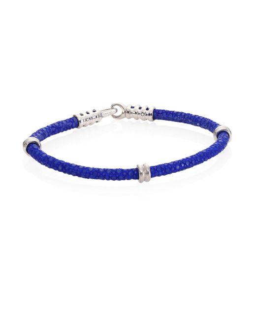 Stinghd   Blue Pure Silver & Stingray Bracelet   Lyst