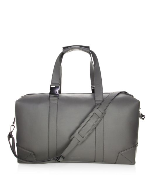 Uri Minkoff | Gray Leather Weekender Bag for Men | Lyst