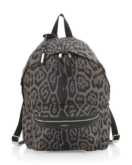 be1bd0b6e Saint Laurent - Multicolor Men's Foldable City Printed Backpack - Olive  Multi for Men - Lyst ...
