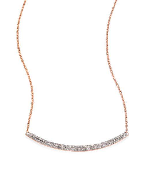Monica Vinader - Metallic Skinny Curve Diamond Necklace - Lyst