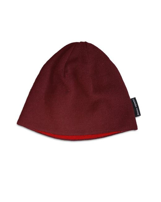 Canada Goose | Red Merino Beanie for Men | Lyst