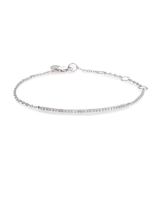Meira T - Diamond & 14k White Gold Bar Chain Bracelet - Lyst