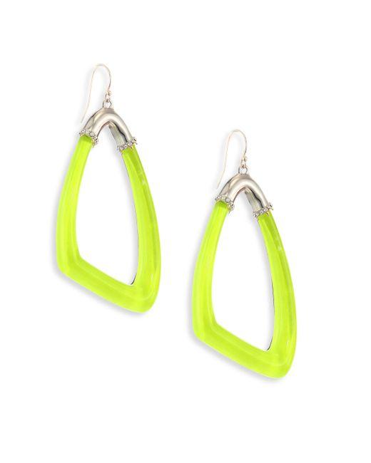 Alexis Bittar | Yellow Lucite Asymmetrical Hoop Earrings | Lyst