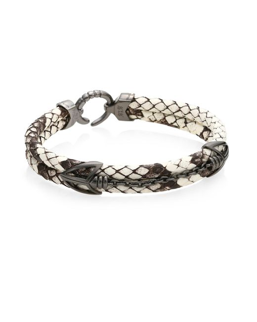 Stinghd - White Pythonhd Platinum Braided Bracelet - Lyst