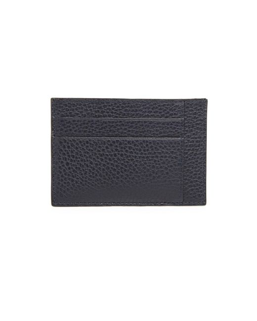 Saks Fifth Avenue - Blue Leather Bi-color Card Case for Men - Lyst