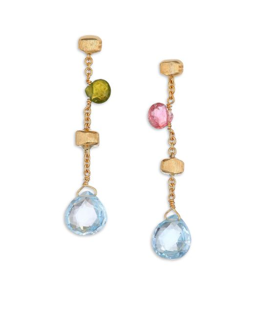 Marco Bicego | Green Paradise Semi-precious Multi-stone & 18k Yellow Gold Drop Earrings | Lyst