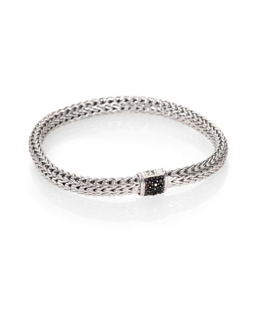 John Hardy - Metallic Classic Chain Black Sapphire & Sterling Silver Small Bracelet - Lyst
