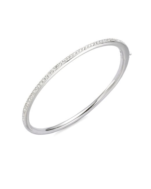 Adriana Orsini - Metallic Channel Set Crystal Bangle Bracelet - Lyst