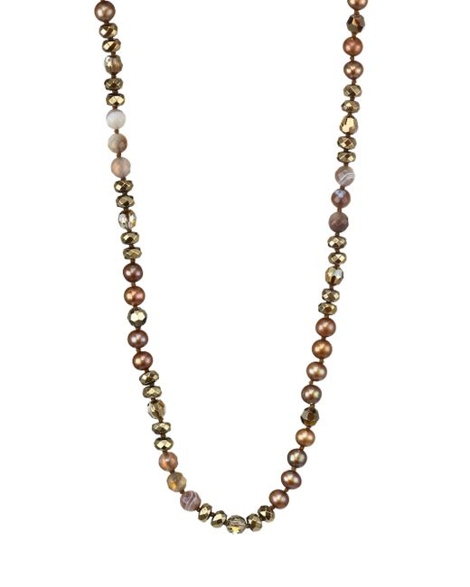 Chan Luu - Metallic 6mm Dark Champagne Pearl & Sterling Silver Mix Necklace - Lyst