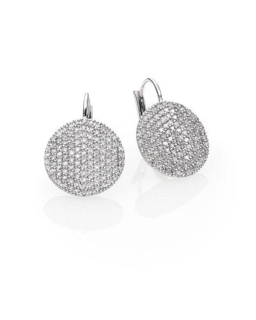 Phillips House | Affair Diamond & 14k White Gold Infinity Leverback Earrings | Lyst