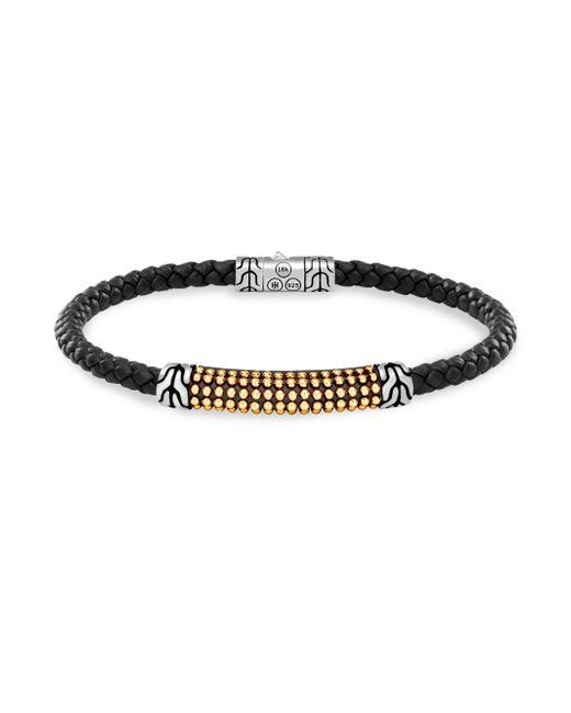 John Hardy - Black 18k Gold & Silver Classic Braid Bracelet - Lyst
