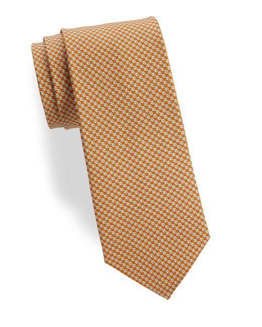 Ferragamo - Orange Volleyballs Silk Tie for Men - Lyst