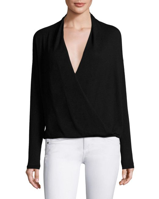 Joie | Black Lien Crossover Sweater | Lyst