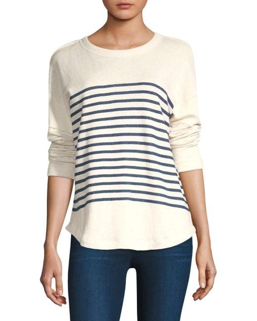 Splendid - Natural Bretton Striped Sweater - Lyst