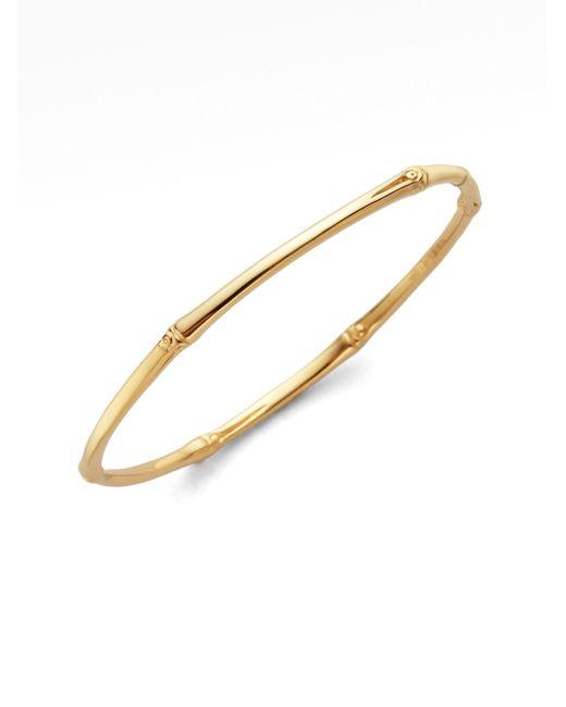 John Hardy | Metallic Bamboo 18k Yellow Gold Slim Bangle Bracelet | Lyst
