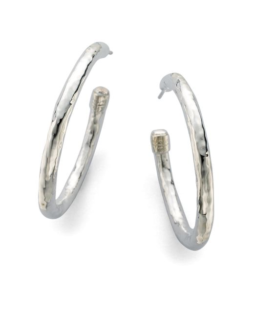 Ippolita - Metallic Glamazon Sterling Silver #3 Hoop Earrings/1.75 - Lyst