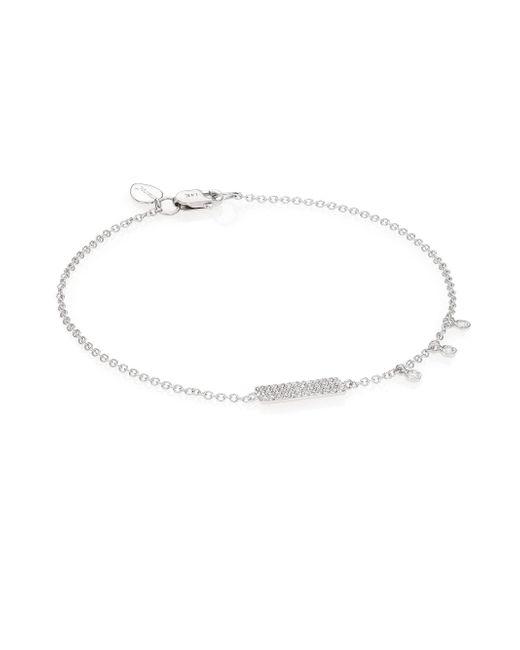 Meira T - Metallic Diamond & 14k White Gold Bar Bracelet - Lyst