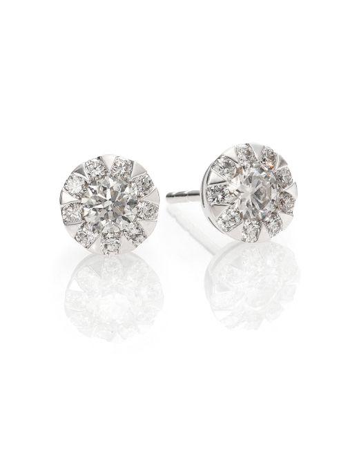 Kwiat | Sunburst Diamond & 18k White Gold Stud Earrings | Lyst