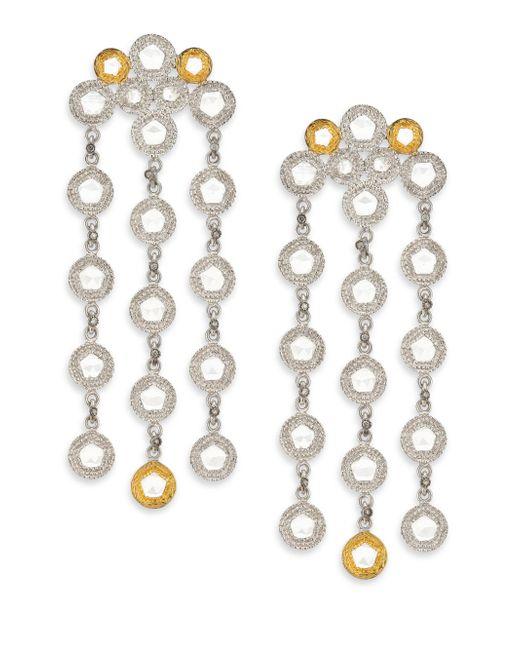 Coomi - Metallic Opera Diamond, Crystal, 20k Yellow Gold & Sterling Silver Chandelier Earrings - Lyst