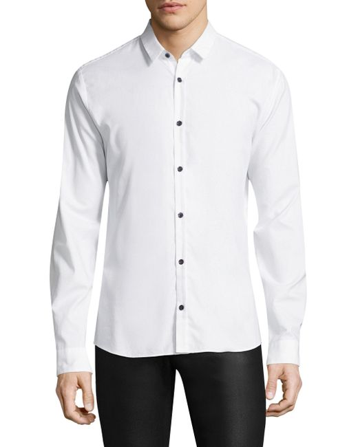 BOSS | White Ero Slim-fit Cotton Button-down Shirt for Men | Lyst