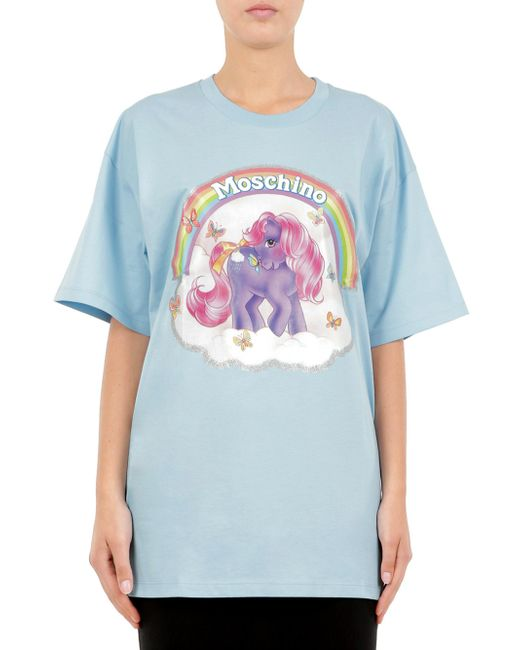 Moschino | Blue Maxi T-shirt In Cotone Little Pony | Lyst