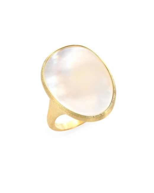 Marco Bicego | Metallic Lunaria Mother-of-pearl & 18k Yellow Gold Ring | Lyst