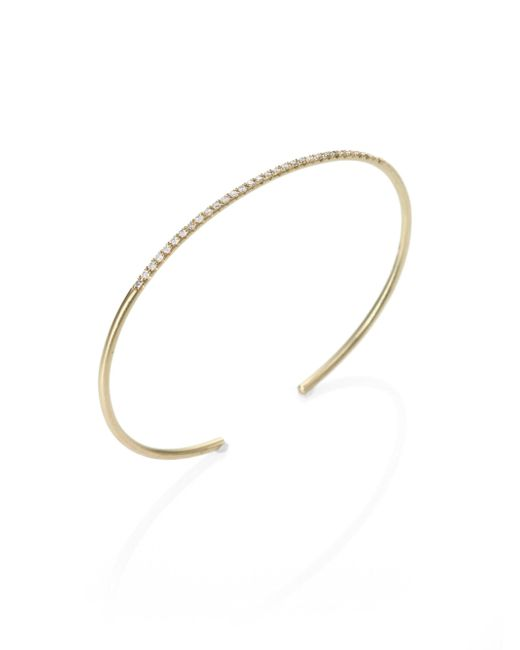 Meira T | Metallic Diamond & 14k Yellow Gold Slim Bangle Bracelet | Lyst