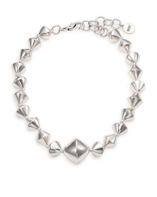 Nest | Metallic Large Bi-cone Beaded Statement Necklace | Lyst