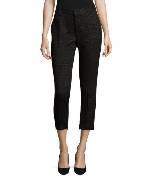 ABS By Allen Schwartz   Black Geometric Cropped Pants   Lyst