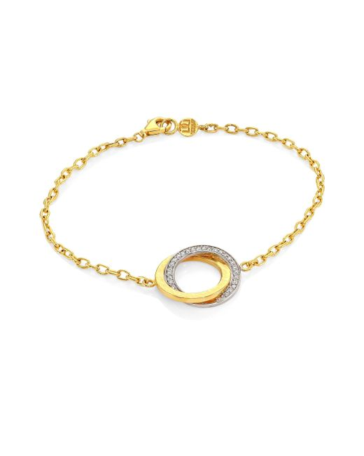 Gurhan - Metallic Women's Duet 24k Yellow Gold, 18k White Gold & Diamond Bracelet - Gold - Lyst