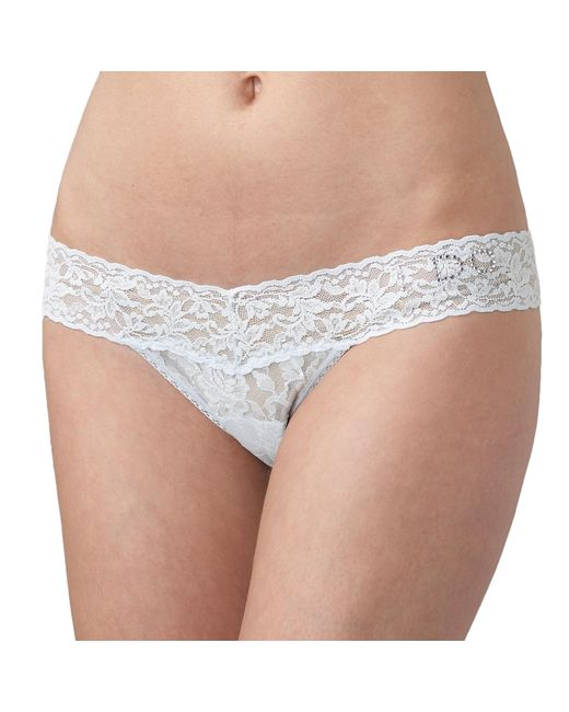 """Hanky Panky - Natural Bridal """"i Do"""" Low Rise Thong - Lyst"""