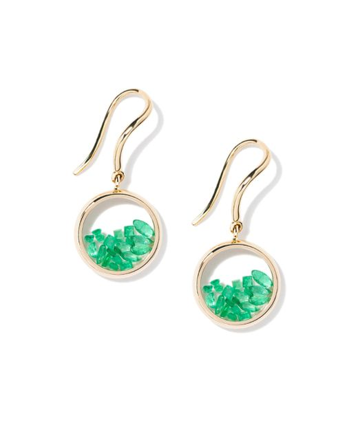 Aurelie Bidermann | Green Chivor Emerald & 18k Yellow Gold Earrings | Lyst