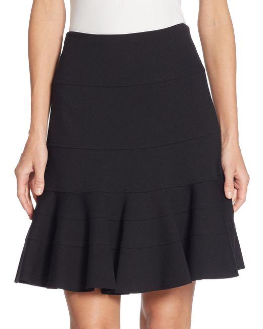 Akris Punto - Black Elements Jersey Flippy Skirt - Lyst